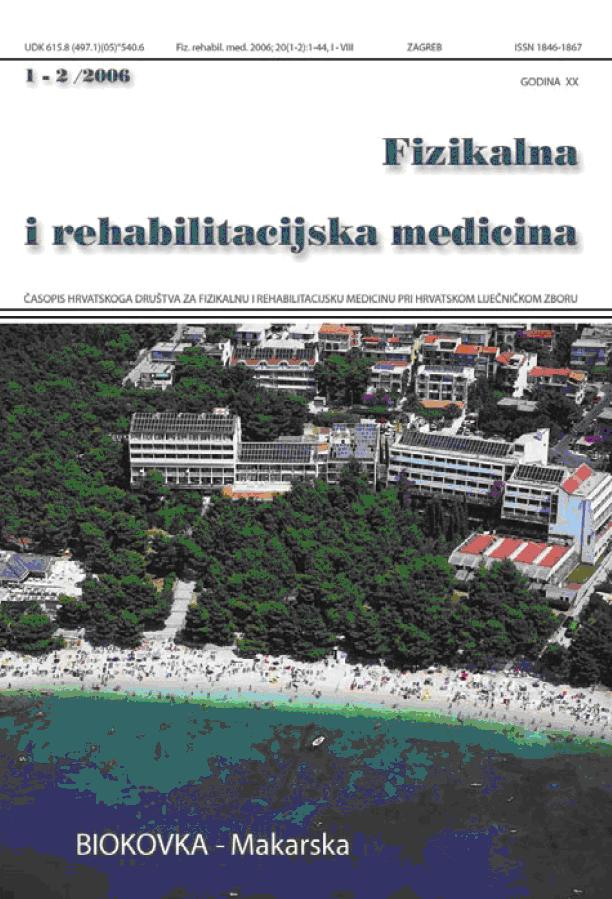 Fizikalna i rehabilitacijska medicina – god 2006 br 1 – 2