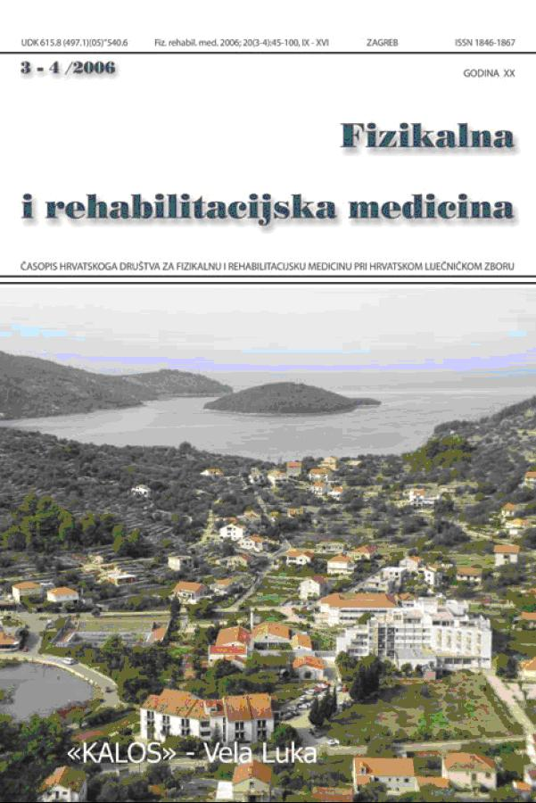 Fizikalna i rehabilitacijska medicina – god 2006 br 3 – 4