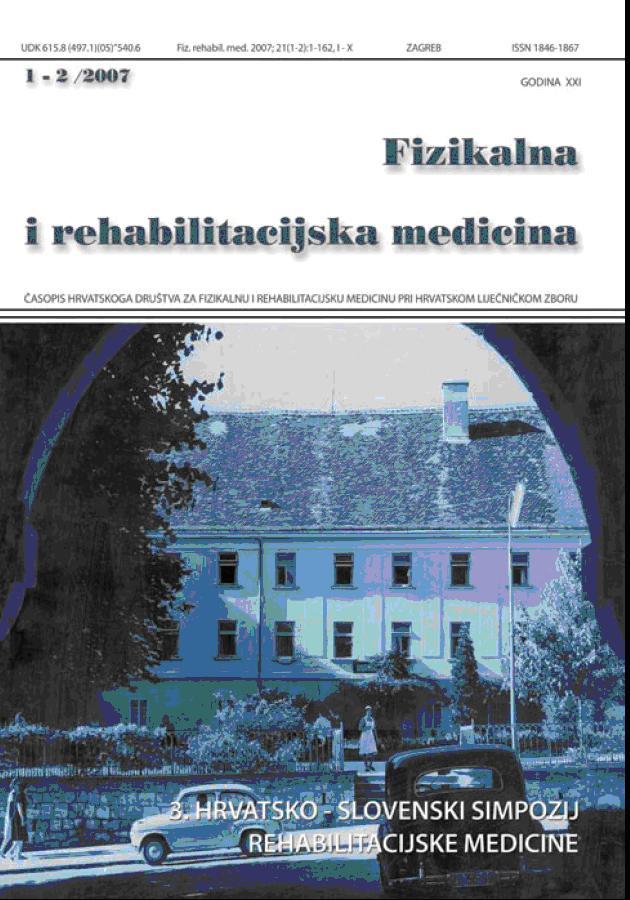 Fizikalna i rehabilitacijska medicina – god 2007 br 1 – 2
