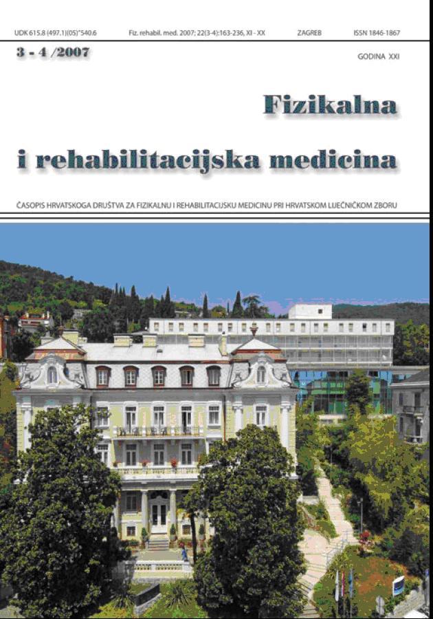 Fizikalna i rehabilitacijska medicina – god 2007 br 3 – 4