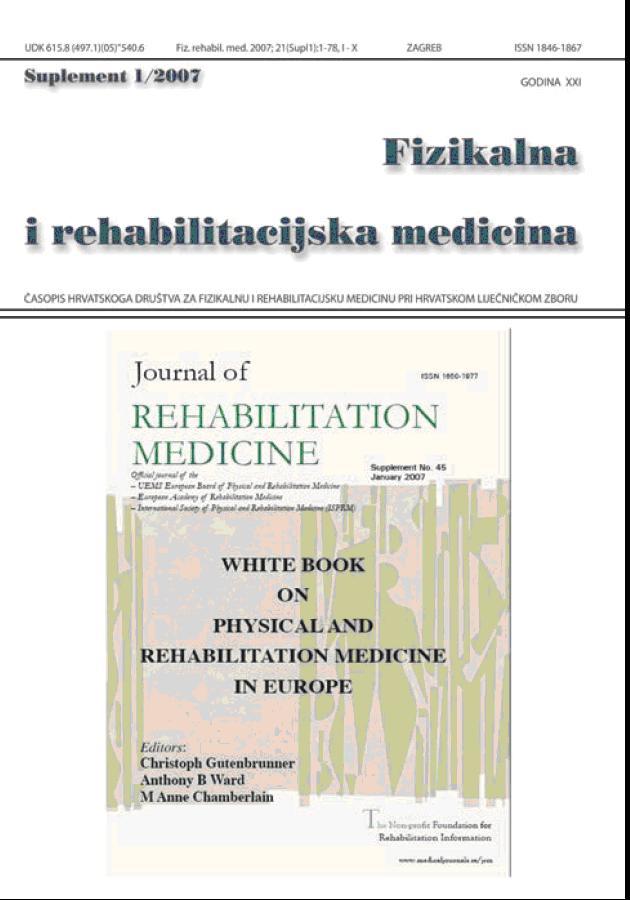Fizikalna i rehabilitacijska medicina – god 2007 suppl 1