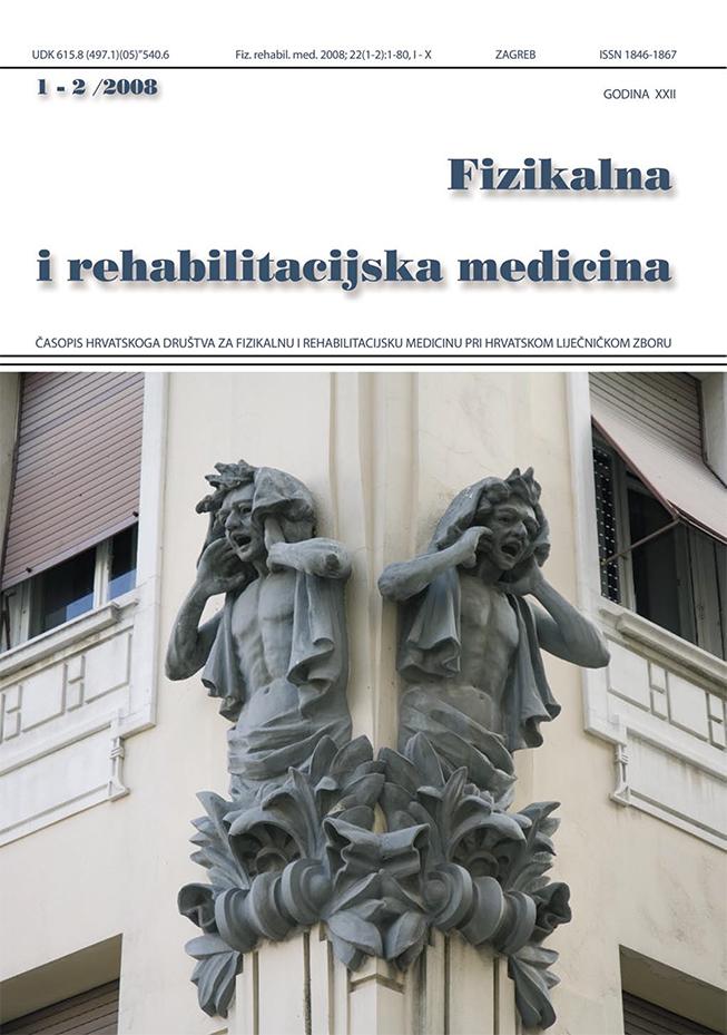 Fizikalna i rehabilitacijska medicina – god 2008 br 1 – 2