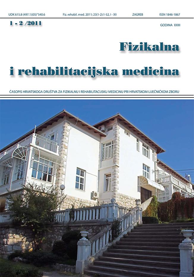 Fizikalna i rehabilitacijska medicina – god 2011 br 1 – 2