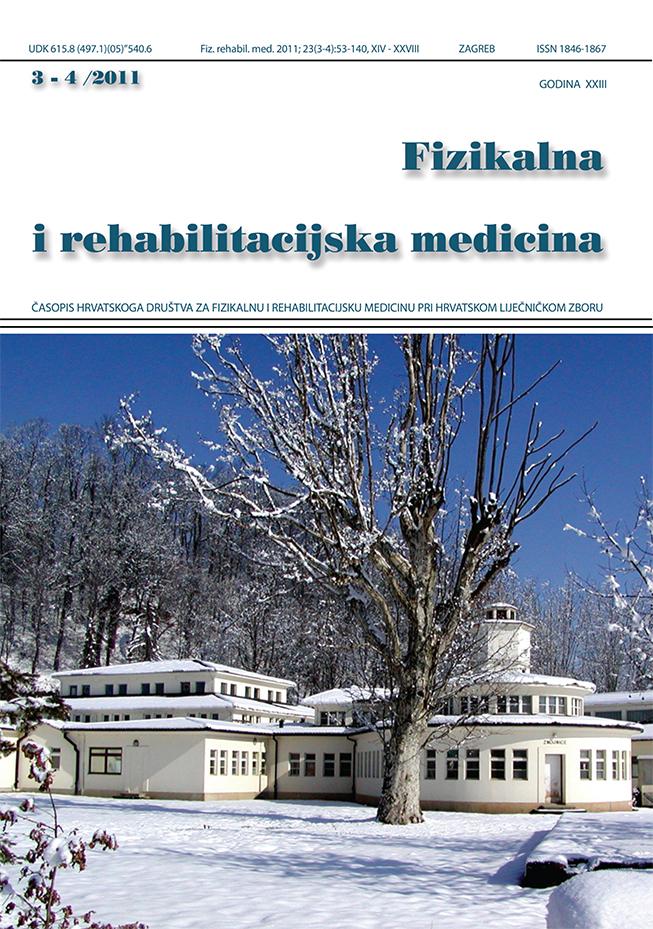 Fizikalna i rehabilitacijska medicina – god 2011 br 3 – 4