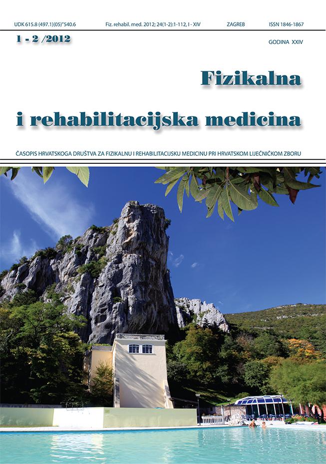 Fizikalna i rehabilitacijska medicina – god 2012 br 1 – 2