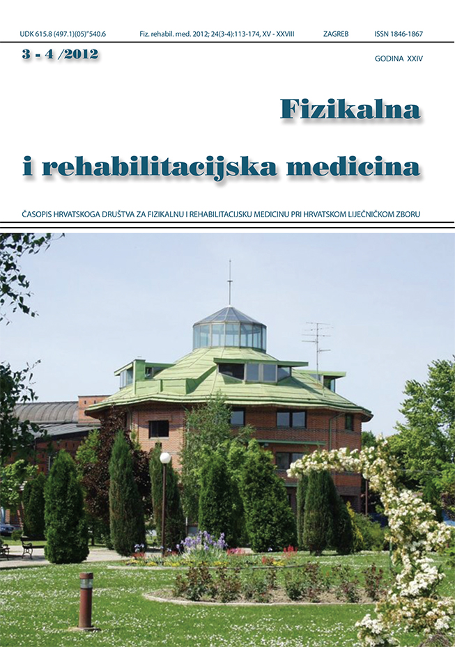 Fizikalna i rehabilitacijska medicina – god 2012 br 3 – 4