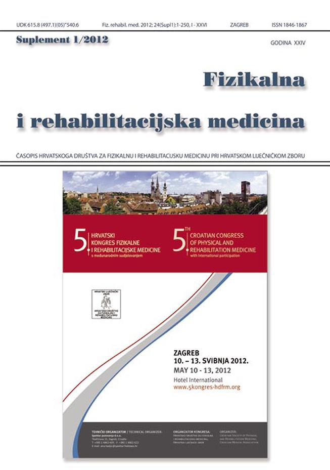 Fizikalna i rehabilitacijska medicina – god 2012 suppl 1