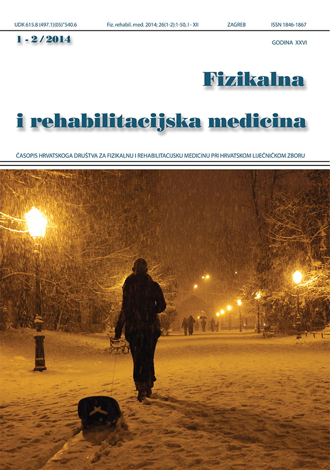 Fizikalna i rehabilitacijska medicina – god 2014 br 1 – 2