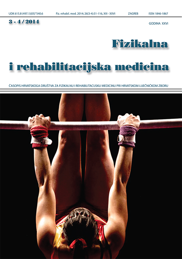 Fizikalna i rehabilitacijska medicina – god 2014 br 3 – 4