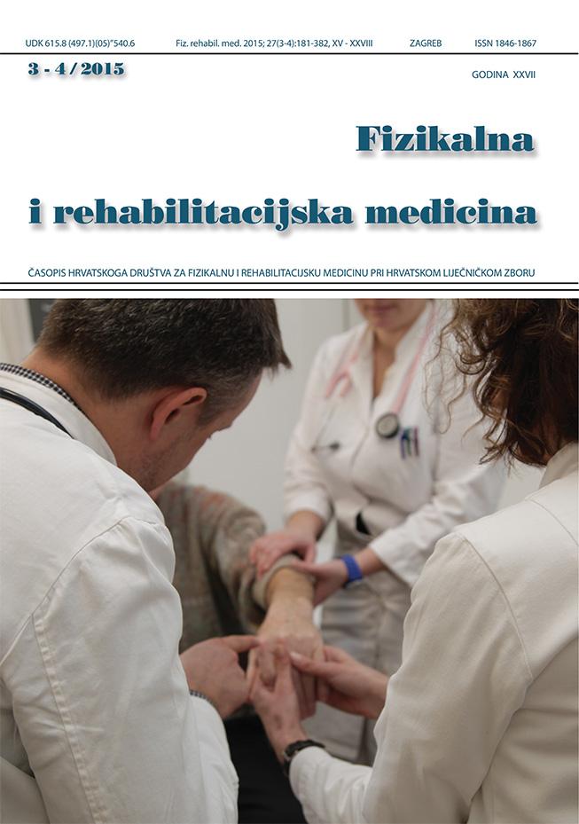 Fizikalna i rehabilitacijska medicina – god 2015 br 3 – 4