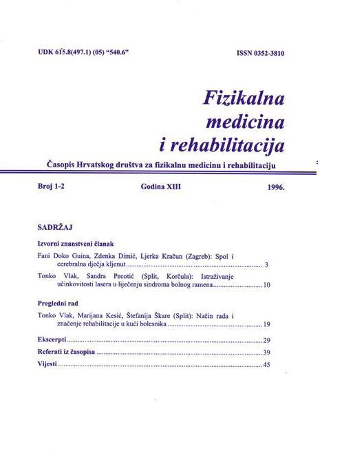 Fizikalna i rehabilitacijska medicina – god 1996 br 1 – 2