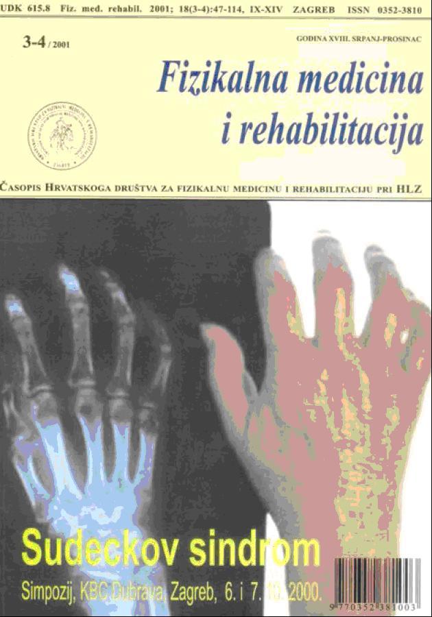 Fizikalna i rehabilitacijska medicina – god 2001 br 3 – 4