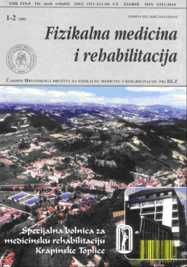 Fizikalna i rehabilitacijska medicina – god 2002 br  1 – 2
